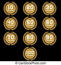 10-100 anniversary laurel wreath icon6.eps