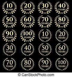 10-100 anniversary laurel wreath icon.eps