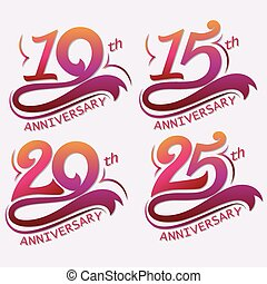 Anniversary Design, Template celebration sign