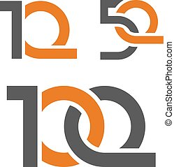 10 50 100 anniversary number - illustration for the web