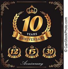 10, aniversário, anos