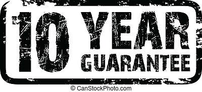 10, année, garantie