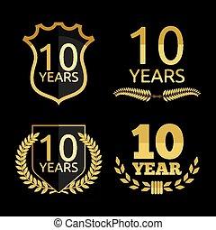 10, anni, anniversario, set