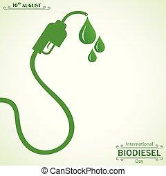10, august, eco, biodiesel, -, gruß, abbildung, umwelt,...