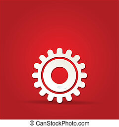 10, ausrüstung, -, freigestellt, eps, vektor, rotes , ikone
