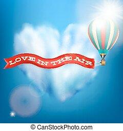 10, banner., balloon, eps, air, chaud