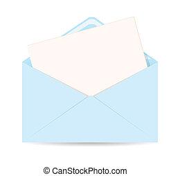 10, -, busta, eps, vettore, lettera, aperto, icona
