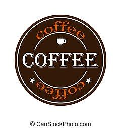 10, caffè, eps, illustrazione, vettore, logo.