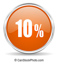 10, cent, icône