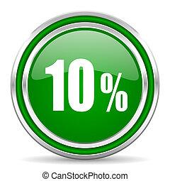 10, cento, ícone