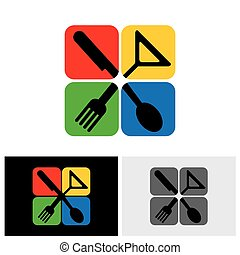 10, cibo, eps, segno, vettore, icona, logotipo, icona