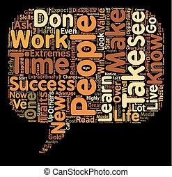 10, concept, gens, réussi, texte, sommet, hautement, traits...