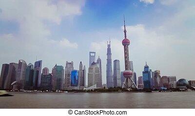 10, croix, bund, huangpu, shanghai, shanghai, rivière, china-sep, bateaux, 2013, china., vue
