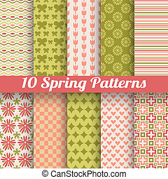 Different spring vector patterns. Romantic chic texture - 10...