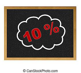 10 % discount.
