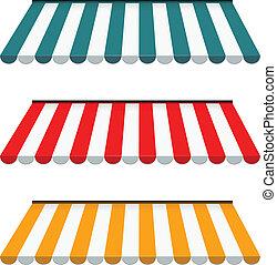 10, ensemble, coloré, -, eps, marquises, vecteur, rayé