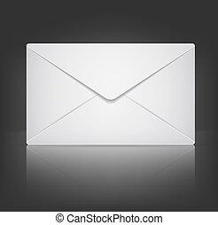 10, enveloppe, eps, arrière-plan., vecteur, noir