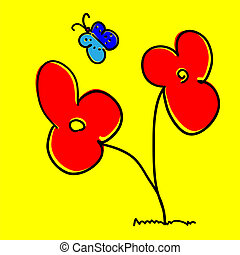 10, eps, 創造性, 背景。, 矢量, 花
