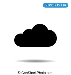 10, eps, abbildung, vektor, wolke, ikone