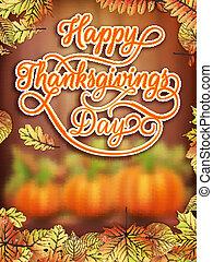 10, eps, pumpkin., thanksgiving, jour, carte