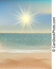 10, eps, tropikalny, jasny, sun., morze, plaża