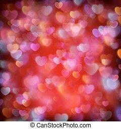 10, eps, valentine, s, hearts., tło, dzień