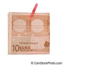 10, euro, argent
