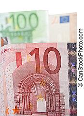 10 euro bill close up