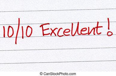 10, excellent., вне