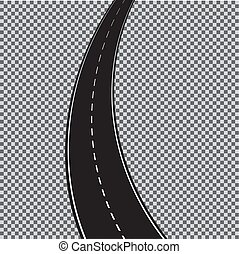 10., experiência., isolado, eps, enrolamento, vetorial, transparente, estrada