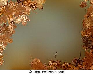 10, feuilles, eps, automne, fond, template.
