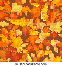 10, feuilles, pattern., seamless, eps, automne, fond