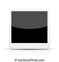10, foto, app, eps, bakgrund., vektor, vit, ikon
