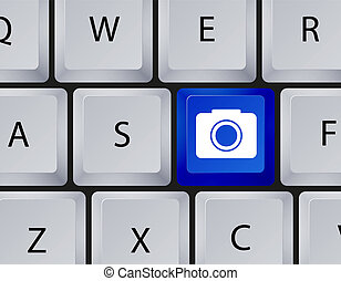 10, fotoapperat, eps, vektor, keyboard., ikone
