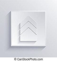 10, fyrkant, lätt, eps, vektor, icon.