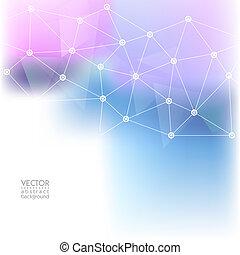 10, géométrique, arrière-plan., design., résumé, polygonal, eps, science, vecteur