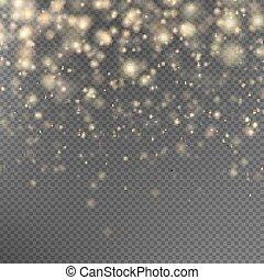 10, gold, effect., eps, partikeln, glitzer