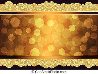 10, gold, weinlese, rahmen, eps, text, vektor, ort
