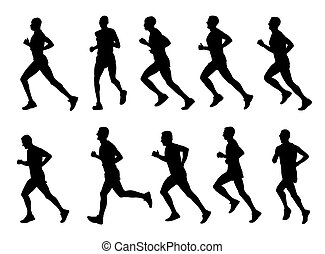 runners silhouettes - 10 high quality runners silhouettes -...