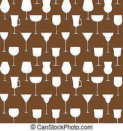 10., illustration., alcoolique, pattern., seamless, eps, verre, vecteur