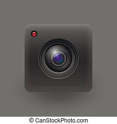 10, illustration., câmera, eps, vetorial, lens.