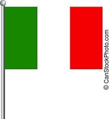 10, illustrazione, italy., eps, bandiera, vettore