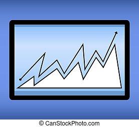 10, informatique, tablette, réaliste, eps, illustration, pc, vecteur