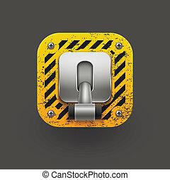 10, interruptor, vector, icon., eps