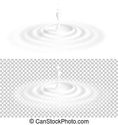 10, líquido, gota, eps, ondulação, branca, surface.
