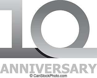 10, lata, liczba, rocznica