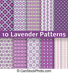 Lavender different vector seamless patterns - 10 Lavender ...