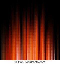 10, lichter, abstrakt, eps, dunkel, hintergrund., orange
