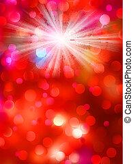 10, lumière colorée, eps, arrière-plan., bokeh