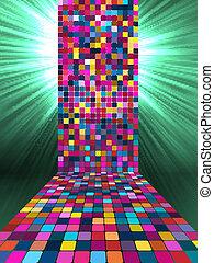 10, lumière, eps, étincelant, multicolore, burst.